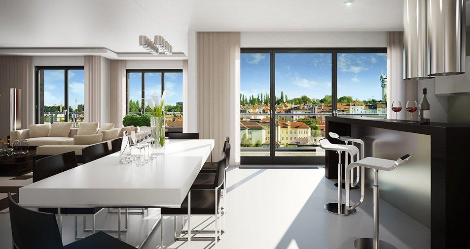Kajet nka luxury apartments prague 6 brevnov mccarthy for Designer apartment prague